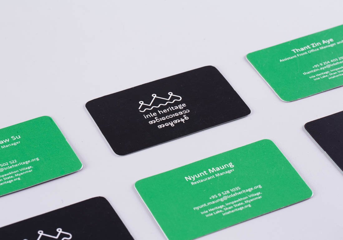 Inle Heritage business cards